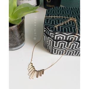 LC Lauren Conrad | Pendant Bars Gold Tone Necklace